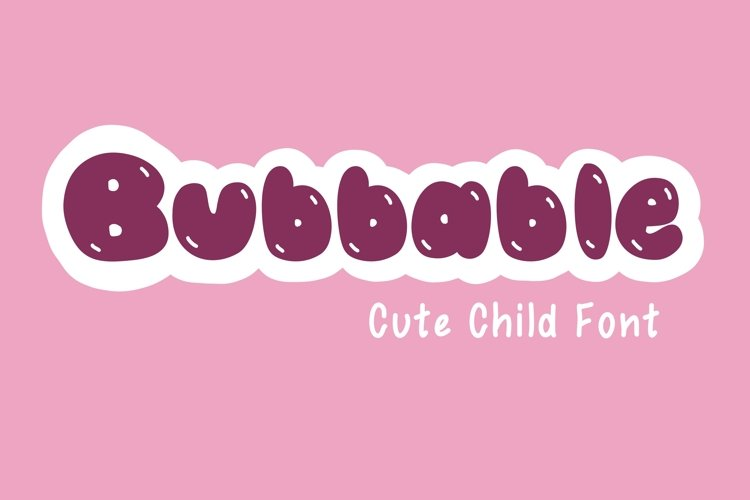 Cute Child Handwritten Font - Bubbable example image 1