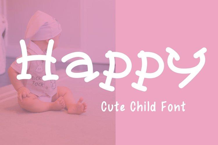 Cute Child Handwritten Font - Happy example image 1