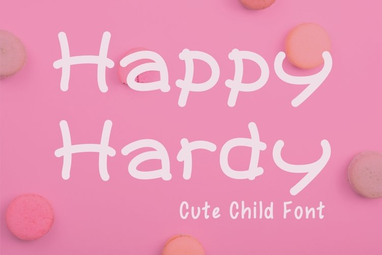Cute Child Handwritten Font - Happy Hardy example image 1