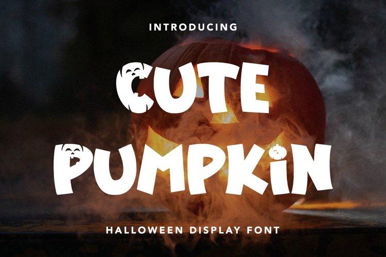 Cute Pumpkin - Halloween Display Font example image 1