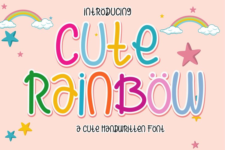 Cute Rainbow Font example image 1