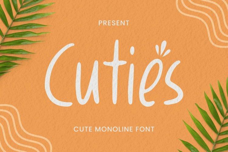 Web Font Cuties Font example image 1