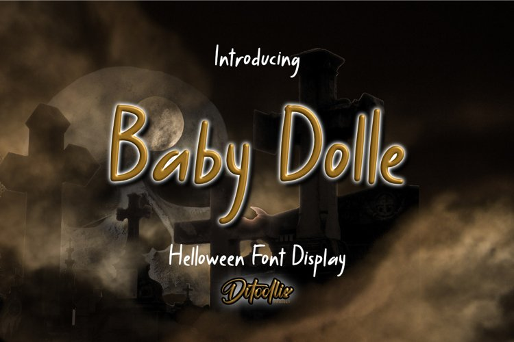 Baby Dolle - Halloween Font Display example image 1