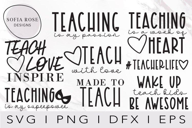 Teacher SVG Bundle, Teaching SVG, Teacher SVG