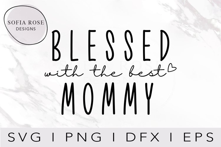 Blessed with the Best MOMMY SVG, T-shirt Design Svg