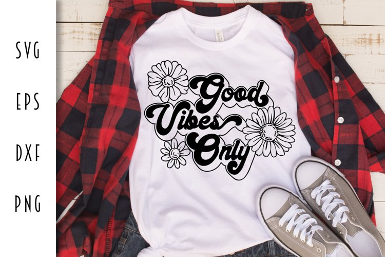Good Vibes Only Retro Design example image 1