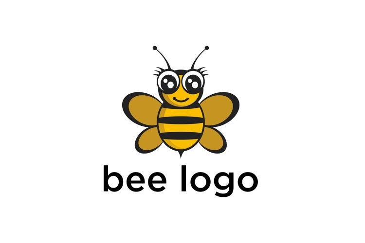 vector bees and honeycomb icon isolated .flat bumblebee logo