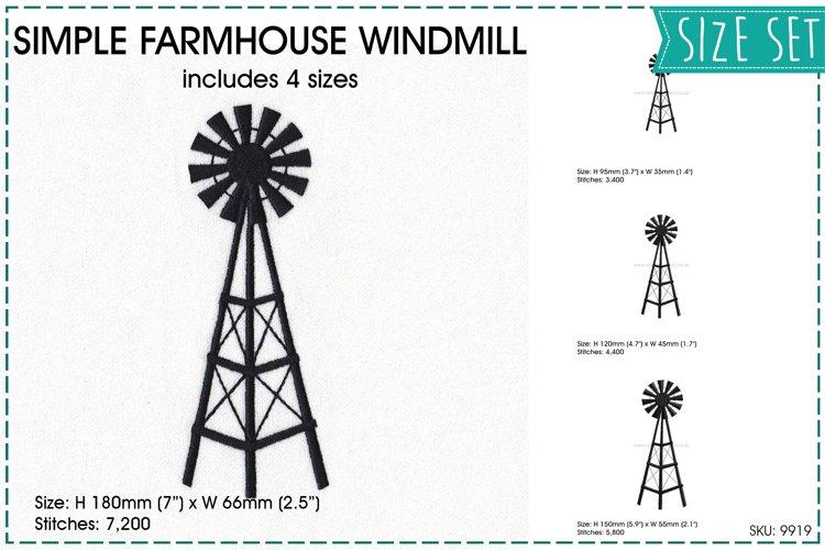 Simple Farmhouse Windmill