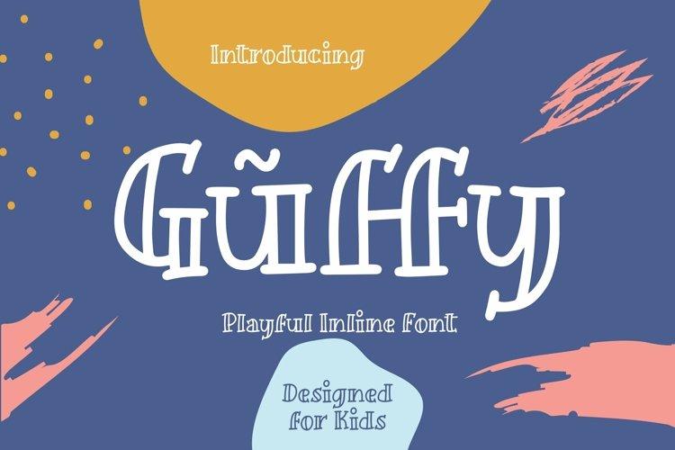 Web Font Guffy - Playful Inline Font example image 1