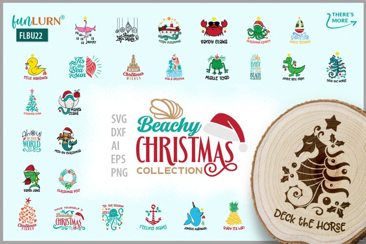 Beachy Christmas Collection | SVG Cut File Bundle example image 1