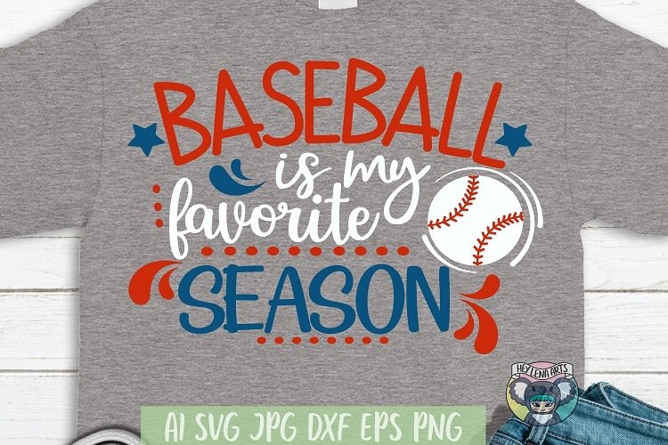 Baseball is My Favorite Season svg, Cricut Cut Files, dxf example image 1