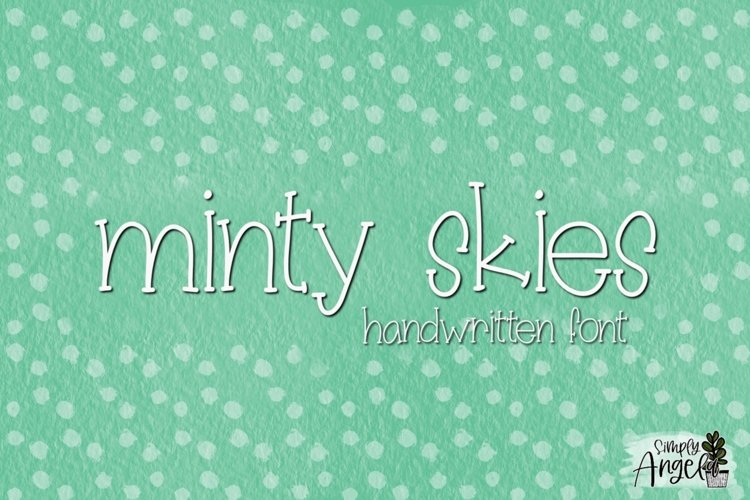 Minty Skies- a skinny font