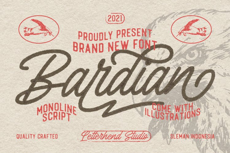 Bardian - Monoline Script example image 1