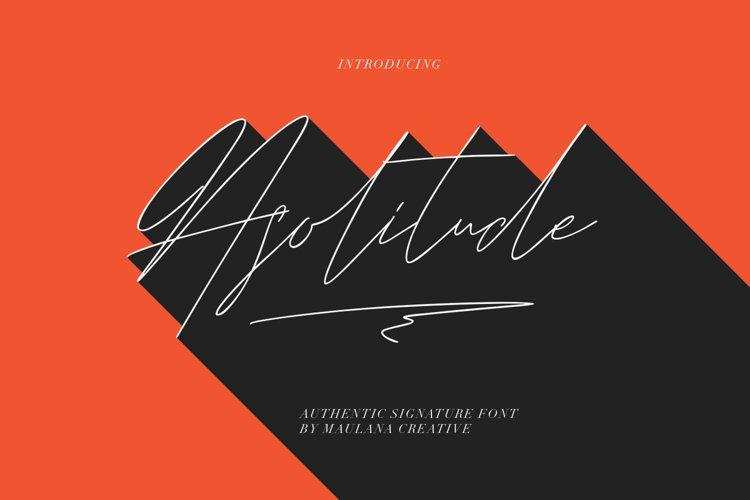 Asolitude Authentic Signature Font example image 1