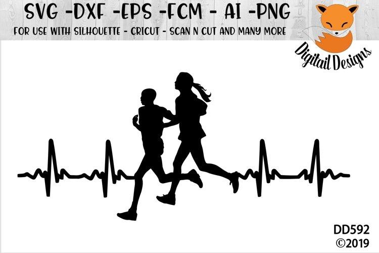 Runners EKG SVG