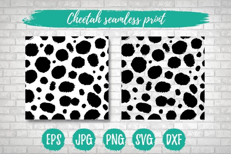 Cheetah Leopard SVG Print, Seamless Vector Animal Pattern