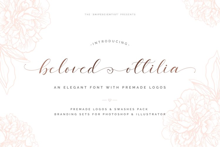 Beloved Ottilia Font 60 Free Logos example image 1