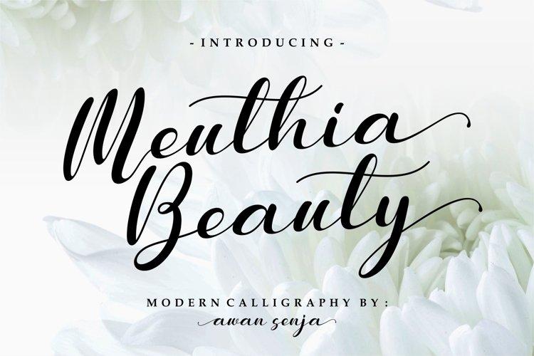 Meuthia - Modern Calligraphy example image 1