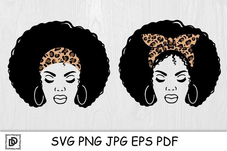 Black Woman SVG Afro Woman Bundle Black Woman With Headband