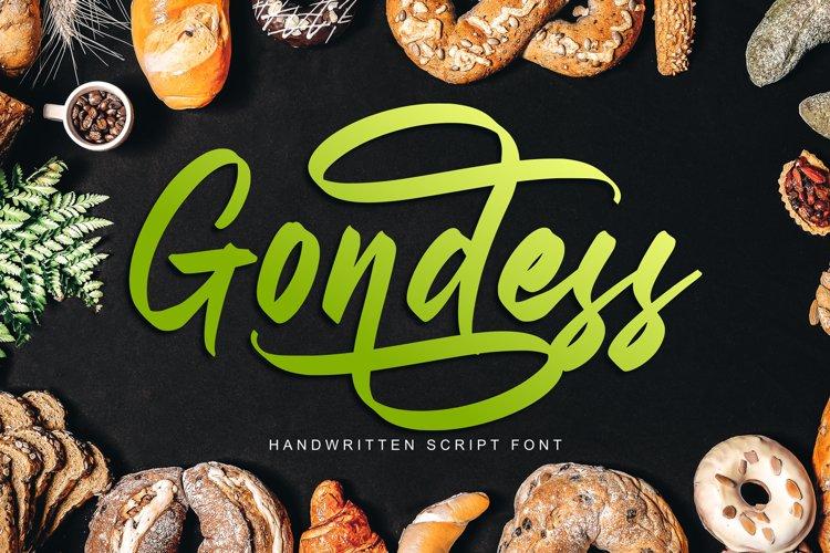 Gondess - Handwritten Script Font example image 1