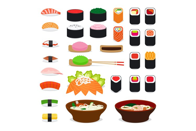 Asia food icons example image 1
