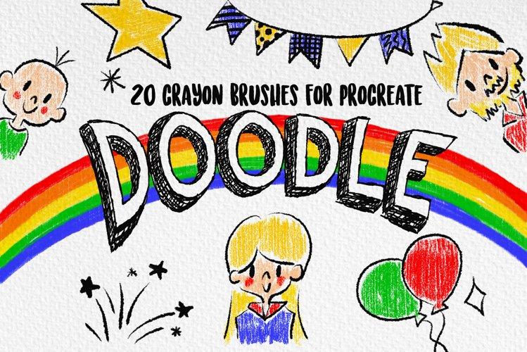 Procreate Brushes | Crayon Brushes, Doodle Brushes