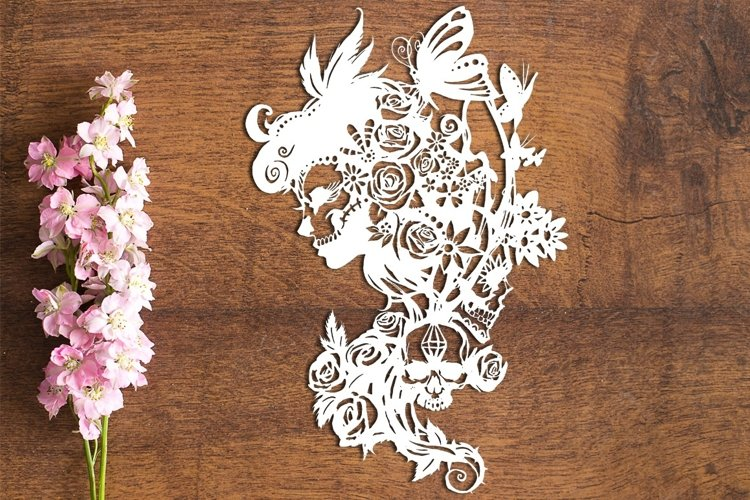Dia De Los Muertos - PDF Template for Paper Cutting by hand