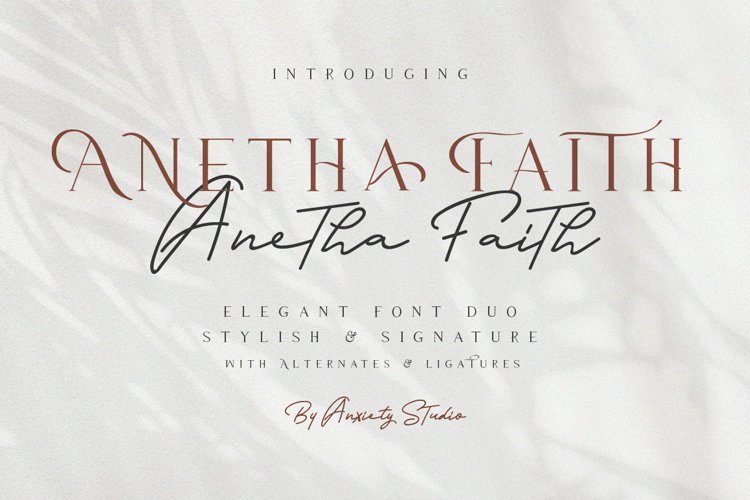 Anetha Faith Font Duo - Extras Logo Template
