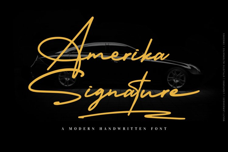 Amerika Signature example image 1