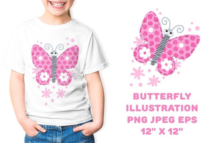 Butterfly digital illustration sublimation. PNG, JPEG, EPS
