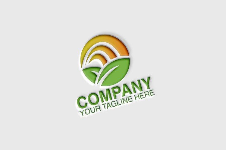Green Leaf Globe Logo example image 1