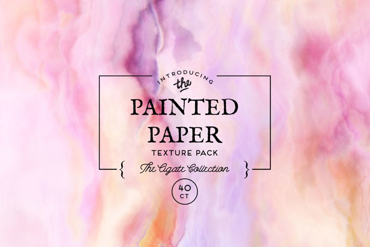 Painted Paper Textures The Agate Collection example image 1