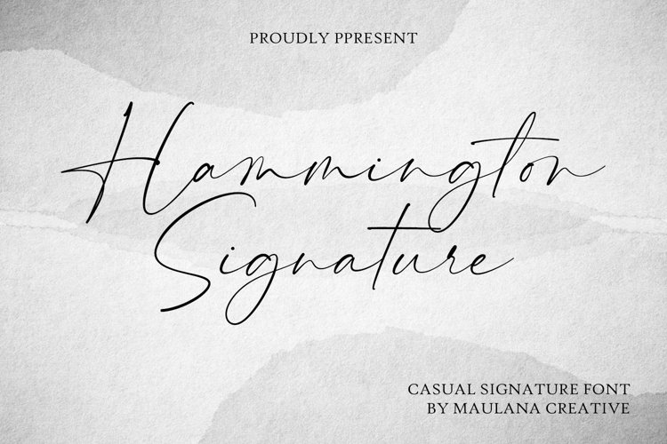 Hammington Casual Signature Script Font example image 1