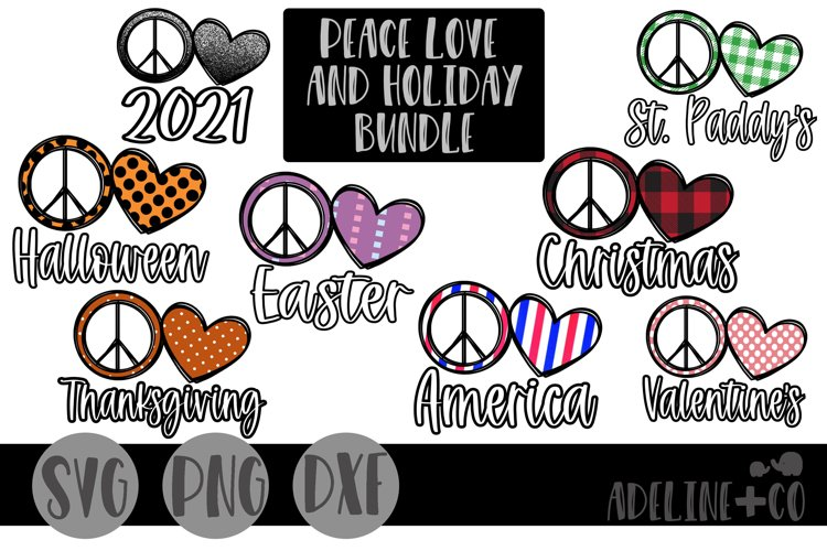 Peace love and holiday bundle example image 1