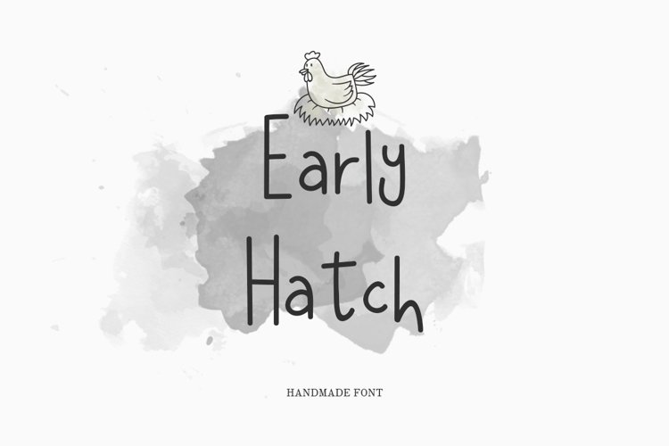 Early Hatch Font example image 1