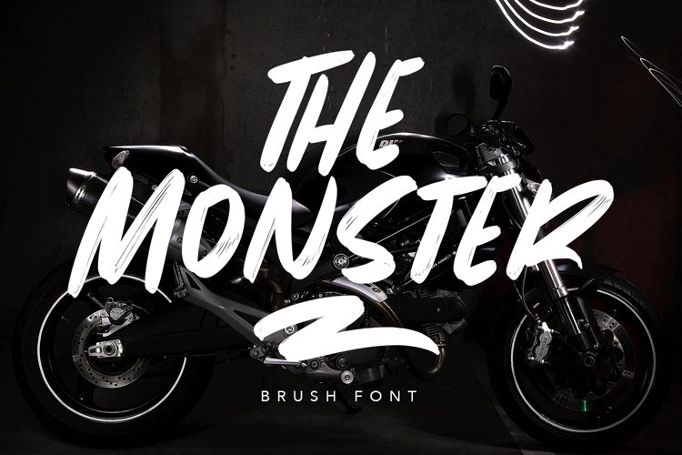 The Monster Brush Font example image 1