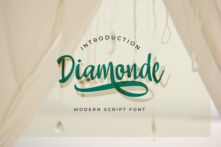 Diamonde Handwritten example image 1