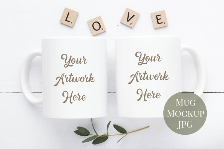 Double Mug Mockup in Neutral Colours example image 1