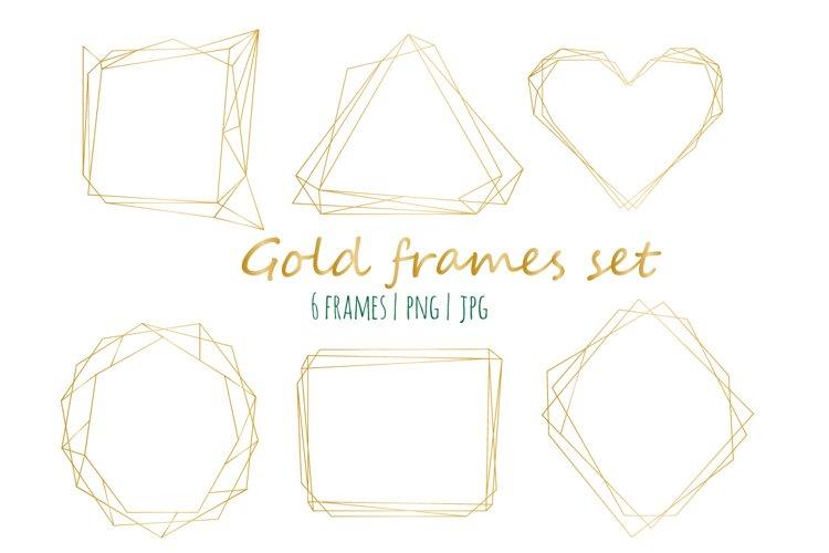 Gold frames set example image 1