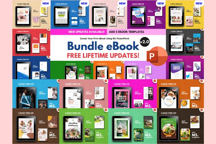 20 eBook Bundle v2.0 Template Editable Using Ms Powerpoint example image 1