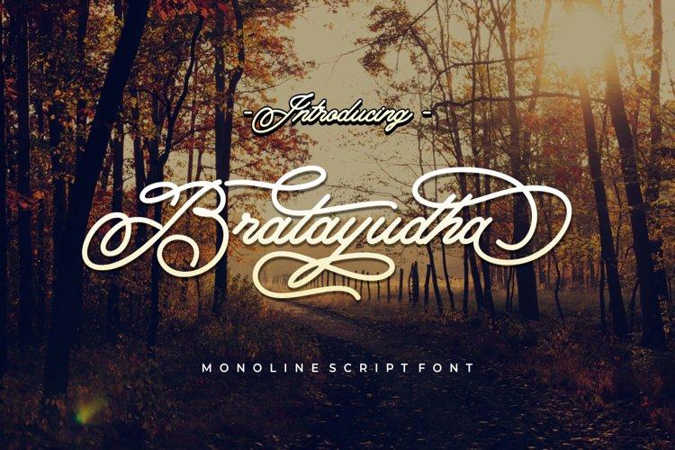 Bratayudha - Monoline Script example image 1