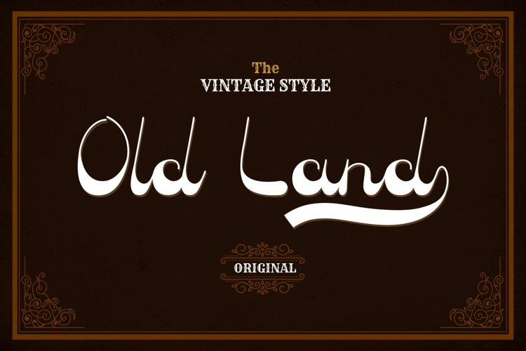 Old Land - Old Vintage Font example image 1