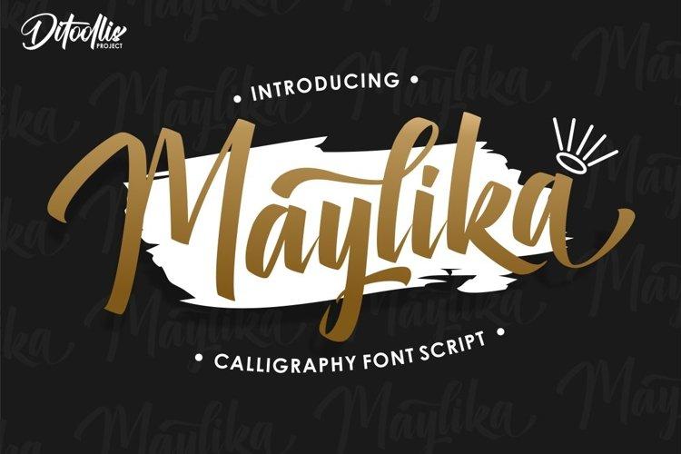 Maylika - calligraphy font script example image 1