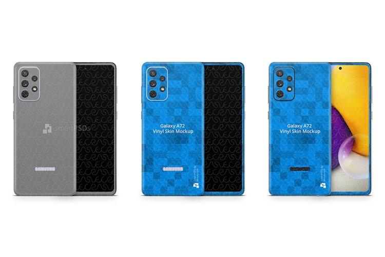 Galaxy A72 2021 PSD Skin Mockup Template