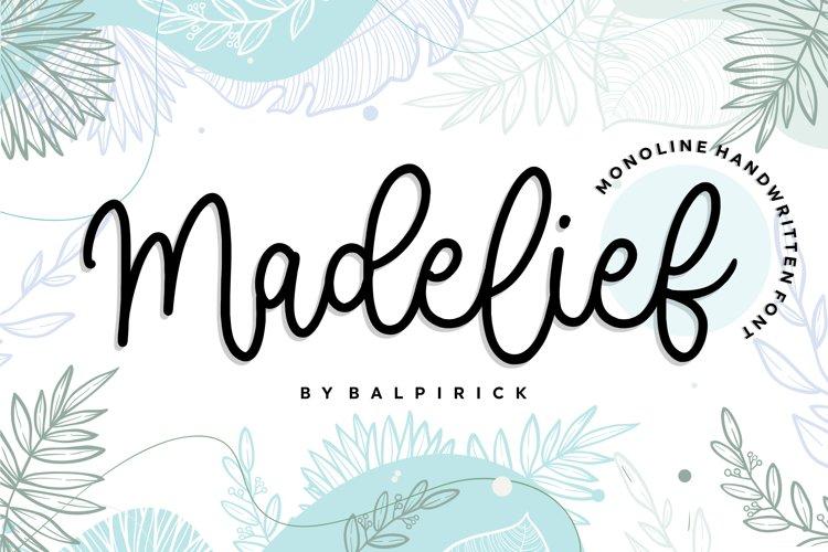 Madelief Monoline Handwritten Font example image 1