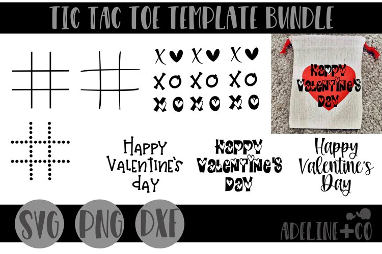 Tic tac toe template bundle example image 1