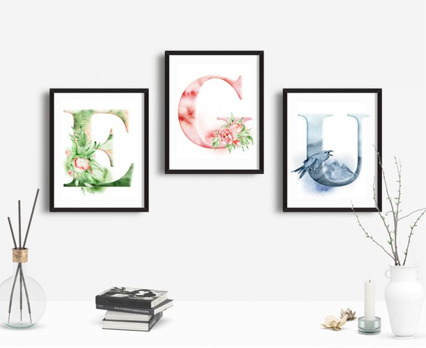 Alphabet Watercolor Clipart - Free Design of The Week Design5