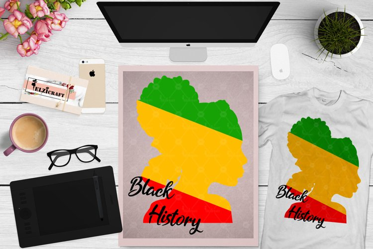 Afro Woman, Remember your roots, Black History Month SVG example image 1