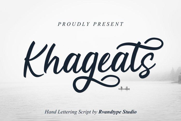 Khageats Script example image 1