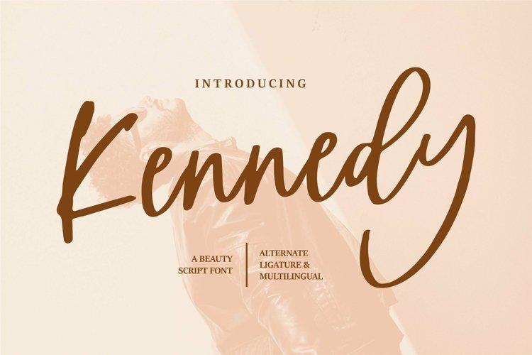 Web Font Kennedy - A Beauty Script Font